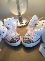 "Customised Crystal Children's Converse ""I Found Treasure"""