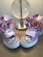 "Customised Crystal Children's Converse ""Let Your Power Shine"""