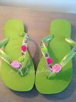 """Customised Havaianas """"Festival Flower Power"""""""