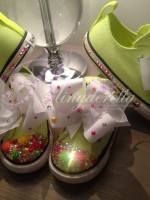"Customised Crystal Children's Converse ""Carnival Girl"""