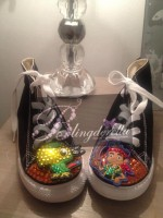 "Customised Crystal Children's Converse ""Jake & Neverland Pirates"""