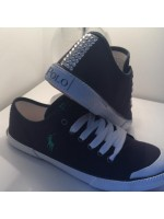 Ralph Lauren Navy Crystalised Shoes Backstrap Only