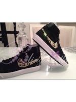 Customised Crystal Adult's Nike Blazers - Leopard Print