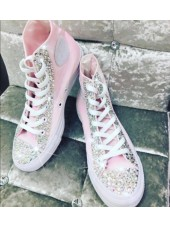 "Customised Adult's Converse ""Pink Crystalettes"""