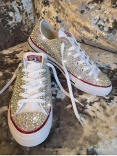 1 Customised Adult's All Crystal Converse AW2016