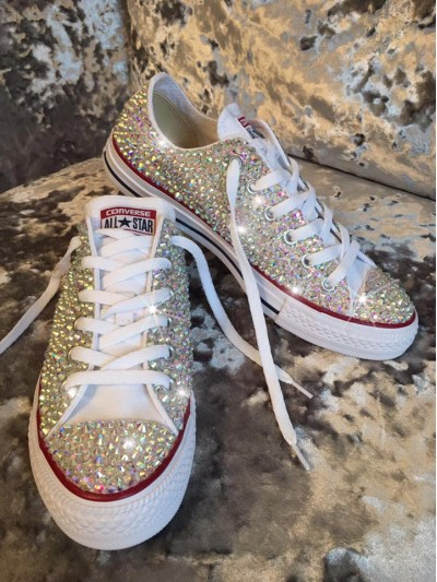 1 Customised Children's  All Crystal Converse AW2016