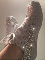 "Customised Adult's Converse ""Bling Bling Low """