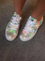 "1 Customised Children's Converse ""Sunshine Festival"""