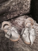 Blingderella Exclusive Children's Silver or Gold Glitter Wedge