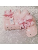 Customised Crystal Infant Baby Pink Uggs 2015