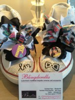 "Customised Crystal Children's Converse ""Little Mix"""