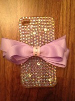 "Customised iPhone Case ""AB Crystal & Bow"""