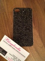 "Customised iPhone Case ""Black Crystal"""