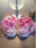 "Customised Crystal Children's Converse ""Dainty Doll"""