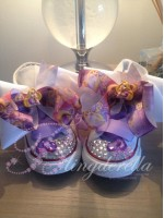 "Customised Crystal Children's Converse ""Let down ur hair"""