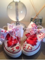 """Customised Crystal Converse """"White One Directions"""""""