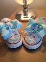 """Customised Crystal Children's Converse """"Cinders Slippers"""""""