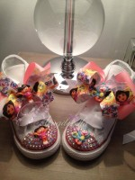 "Customised Crystal Children's Converse ""Dora The Explorer"""