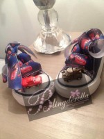 "Customised Crystal Children's Converse ""Cars"""