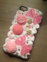 "Customised iPhone Case ""Ice Cream & Bows"""