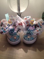 "Customised Crystal Converse Crib Shoe ""Alice"""