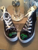 "Customised Crystal Children's Converse ""Hulk"""