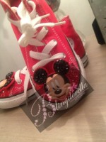"Customised Crystal Children's Converse ""Mickey Mouse Face"""