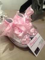 """Customised Crystal Converse Crib Shoe """"Tutu Fairy"""""""