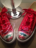 "Customised Crystal Children's Converse ""Ibiza Pacha's"""