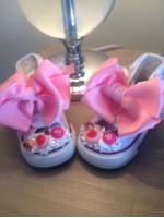 "Customised Crystal Converse Crib Shoe ""Sweetie Delights"""