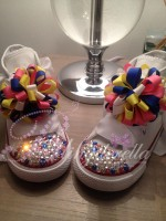 "Customised Crystal Children's Converse ""Little Cheerleaders"""