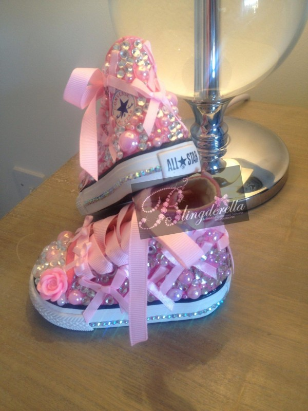 baby converse with bling