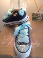 "Customised Crystal Children's Converse ""Ice Queen"""