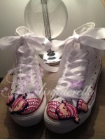 "Customised Crystal Children's Converse ""Cheshire Cat"""