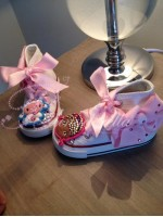 "Customised Crystal Children's Converse ""Doc McStuffins"""