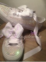 "Customised Crystal Children's  Wedding Converse ""Ultimate Bridal 2013"""