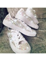 "Customised Children's Converse ""Bling Bling Low"""