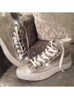 "Customised Crystal Adult Converse ""Bling Icon"""