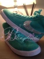 Customised Crystal Adult's Nike Blazers - Mint