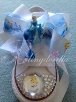 "Customised Crystal Children's Converse ""Cinderella Low Tops"""