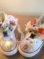 "Customised Crystal Children's Converse ""Despicable Me"""