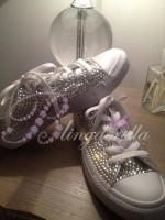 Adult's All Crystal Converse Clears