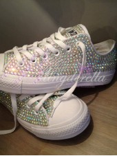 Children's All Crystal Converse 2