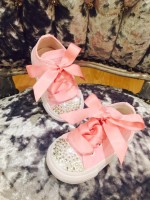 "Customised Adult's Converse ""Babydust Pinks"""