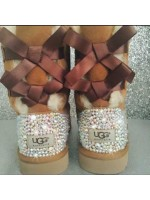 Customised Crystal Adult's Bailey Bow Uggs