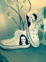 "Customised Children' Converse ""Banksy Style Portrait"""