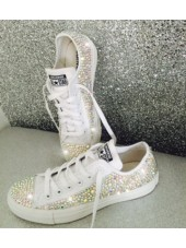 """Customised Adult's Converse """"Bling Bling Low """""""