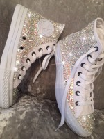 "Customised Adult's Converse ""Bling Blings"""