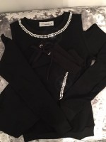 Customised Crystal Blingderella Tracksuit Black