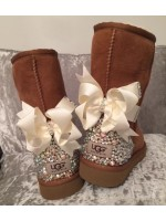 Customised Crystal Children's Bow Uggs